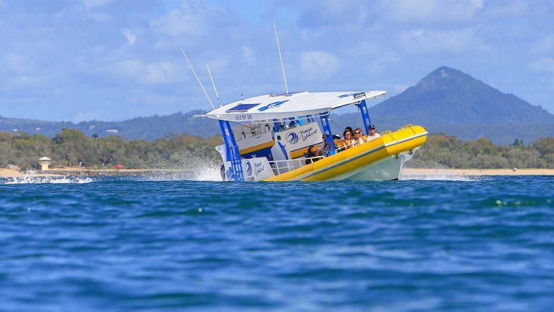 Sports adventure boat trip Noosa Sunshine Coast